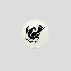 Three Legged Crow Mini Button