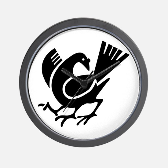 Three Legged Crow Wall Clock