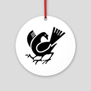 Three Legged Crow Ornament (Round)