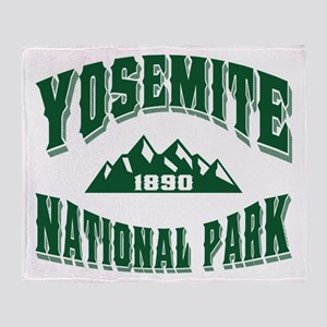 Yosemite Old Style Green Throw Blanket