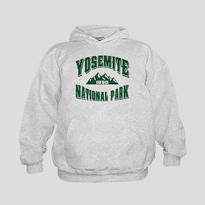 Yosemite Old Style Green Kids Hoodie