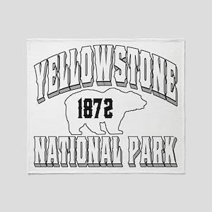 Yellowstone Old Style White Throw Blanket