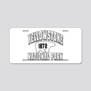Yellowstone Old Style White Aluminum License Plate