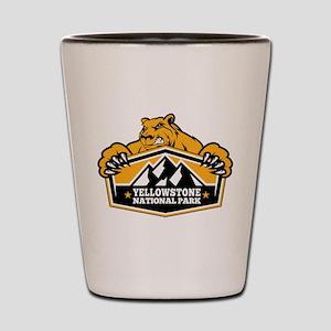 Yellowstone Gold Bear Shot Glass