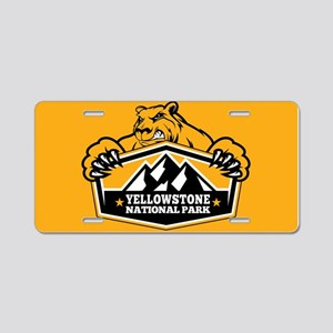 Yellowstone Gold Bear Aluminum License Plate