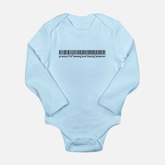 Shearer, Baby Barcode, Long Sleeve Infant Bodysuit