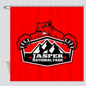 Jasper Red Bear Shower Curtain