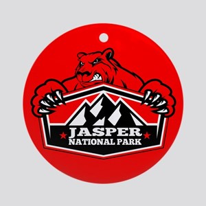 Jasper Red Bear Ornament (Round)