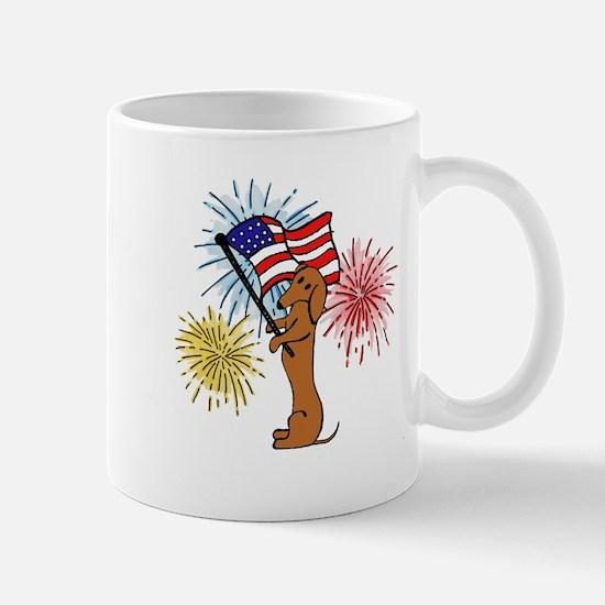Dachshund - Patriotic Tan Mug