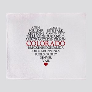 I LOVE COLORADO Throw Blanket