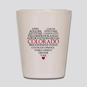 I LOVE COLORADO Shot Glass