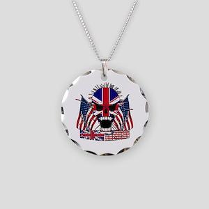 European American Necklace Circle Charm