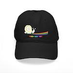 Rainbow Follow Your Fun Cute Snail Black Cap