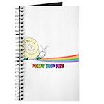 Rainbow Follow Your Fun Cute Snail Journal