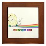 Rainbow Follow Your Fun Cute Snail Framed Tile