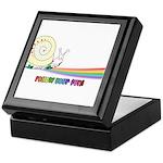 Rainbow Follow Your Fun Cute Snail Keepsake Box