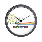Rainbow Follow Your Fun Cute Snail Wall Clock