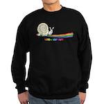 Rainbow Follow Your Fun Cute Snail Sweatshirt (dar