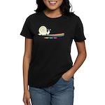 Rainbow Follow Your Fun Cute Snail Women's Dark T-