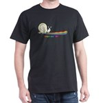 Rainbow Follow Your Fun Cute Snail Dark T-Shirt