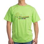 Rainbow Follow Your Fun Cute Snail Green T-Shirt