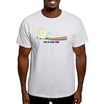 Rainbow Follow Your Fun Cute Snail Light T-Shirt