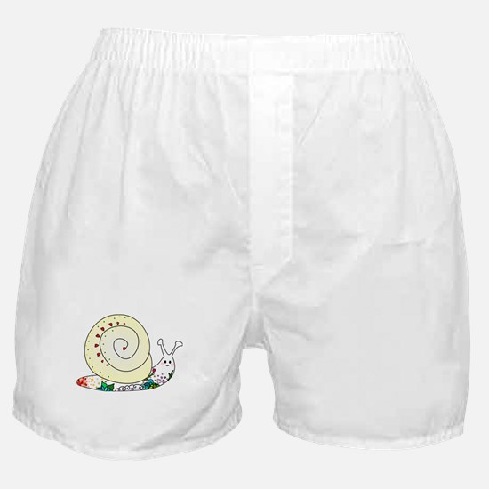 Colorful Cute Snail Boxer Shorts