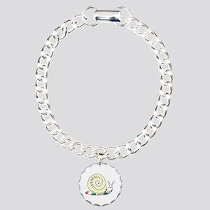 Colorful Cute Snail Charm Bracelet, One Charm