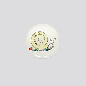 Colorful Cute Snail Mini Button