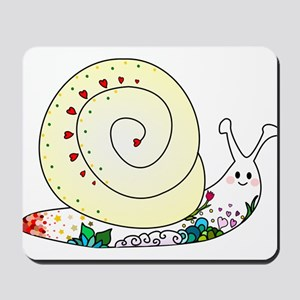 Colorful Cute Snail Mousepad