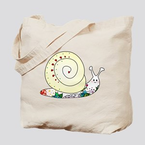Colorful Cute Snail Tote Bag