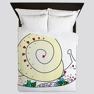 Colorful Cute Snail Queen Duvet