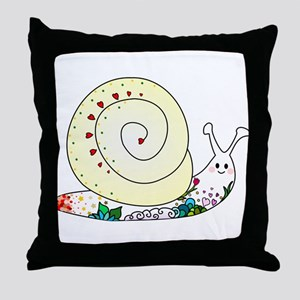Colorful Cute Snail Throw Pillow