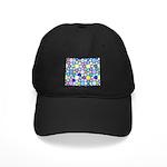 Star Stain Glass Pattern Black Cap