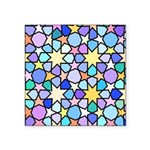 Star Stain Glass Pattern Square Sticker 3