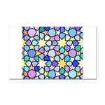 Star Stain Glass Pattern Rectangle Car Magnet