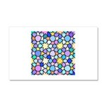 Star Stain Glass Pattern Car Magnet 20 x 12