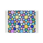 Star Stain Glass Pattern Rectangle Magnet