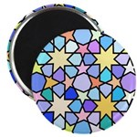Star Stain Glass Pattern Magnet