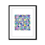 Star Stain Glass Pattern Framed Panel Print