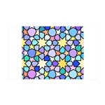 Star Stain Glass Pattern 35x21 Wall Decal