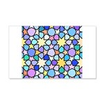 Star Stain Glass Pattern 20x12 Wall Decal