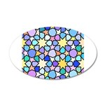 Star Stain Glass Pattern 35x21 Oval Wall Decal