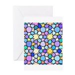 Star Stain Glass Pattern Greeting Card