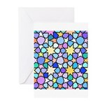 Star Stain Glass Pattern Greeting Cards (Pk of 10)