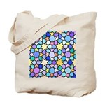 Star Stain Glass Pattern Tote Bag