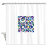 Star Stain Glass Pattern Shower Curtain