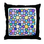 Star Stain Glass Pattern Throw Pillow