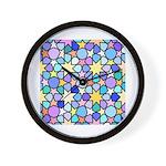 Star Stain Glass Pattern Wall Clock