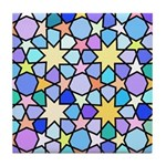 Star Stain Glass Pattern Tile Coaster